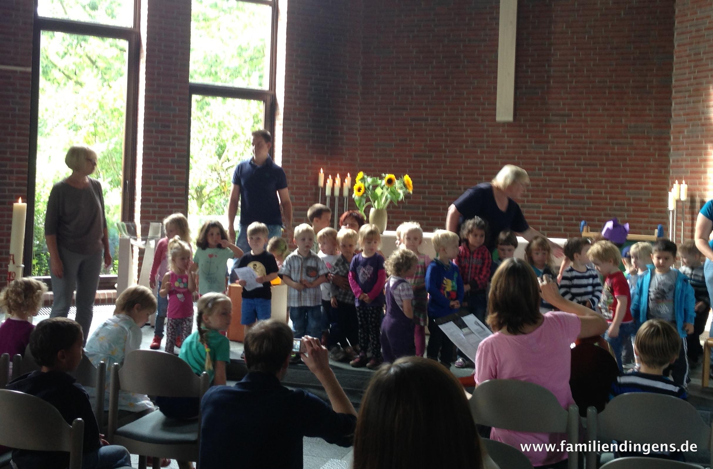 Begrüßungsgottesdienst im Kindergarten