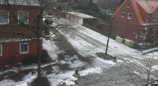 Eis auf den Emder Straßen